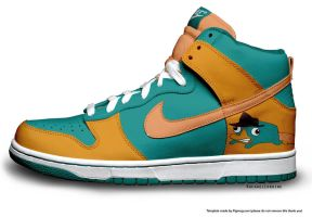 Perry The Platypus Nike by RachaelLoraine