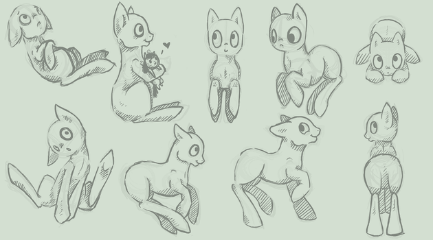 Pony Poses References by Lunar-Sugar