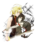 Writer and Her Knight by Rina-ran