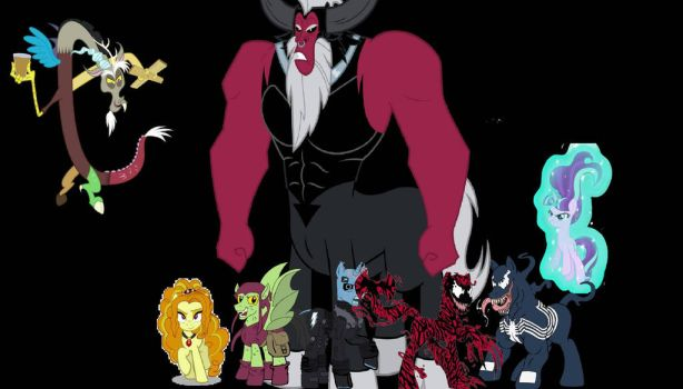 Discord, Tirek and the Sinister Six (Version 2) by alvaxerox