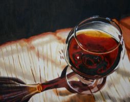Glass of Cognac by artbyRenata