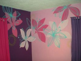 Wall with Flower Design by Angelpedia