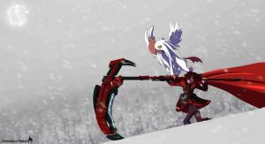 RWBY: Ruby Rose and Mega Absol by J13Productions