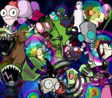 Invader Zim Background by Slurpythenobblefox