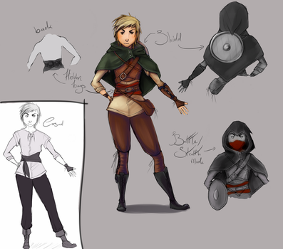 Character design: Human cleric by M03PS