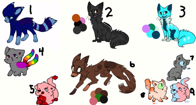 Cheap left over adopts 1 (4/9 open) by ToastyFroakieAdopts