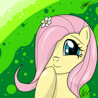 Cute Fluttershy by NightGreenMagician