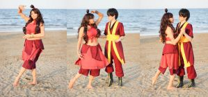 Dancing in the Fire. Katara and Zuko by Giuzzys