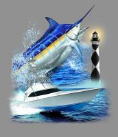 Blue Marlin Boat Design by obxrussell