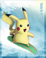 Pikachu Surfing by Wakki
