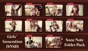 Girls' Generation (SNSD) ~Sone Note Folder Pack~ by FolderOvert