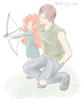 Daryl and Merida by SkyDrew
