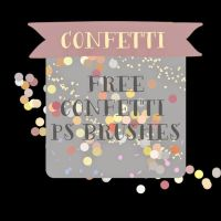 Confetti Photoshop Brushes by toxiclolley88