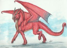 Red Dragon Request by silverfang07