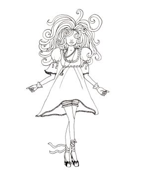 Shakara: Sugar Goddess Lineart by WonderlandDuchess