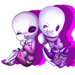 [AT] Skeleton Brothers by FlandreZeroChan