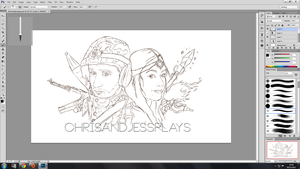 WIP ChrisandJessPlays YouTube banner by jessparry