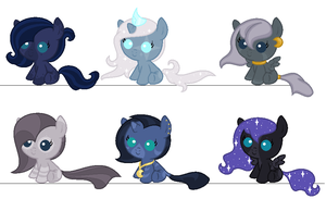 Luna-Zecora Fillies by PyscoSnowflake