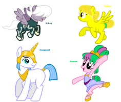 Themed adoptables 57-60 (CLOSED) by BronyBase
