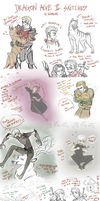 Dragon Age II Sketches! by VanyCat