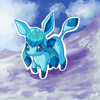 Chibi Glaceon by VelocityRiot