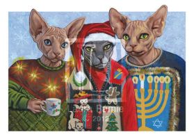 Holiday Hairless Cheer by LaurasMuse