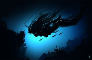 DeepSea Mermaid Spitpaint by rpowell77