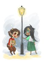 Narniastuck: Karkat and Jade by toupele