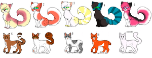 Free Cat adoptables CLOSED by pixeldoq