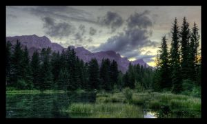 Canmore Dusk HDR by DTherien
