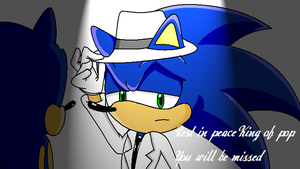 Michael Jackson Sonic by supersonicartdrawer