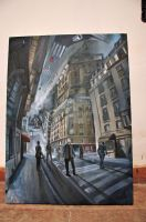 oil drawing of Inception by wakana-sakamoto