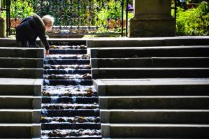 Alnwick Garden Playing With Water by scribbleXcore