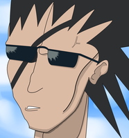 Zaraki Kenpachi with the glasses by Pawonashi