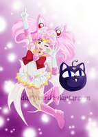Super Sailor Chibi Moon by darynoir