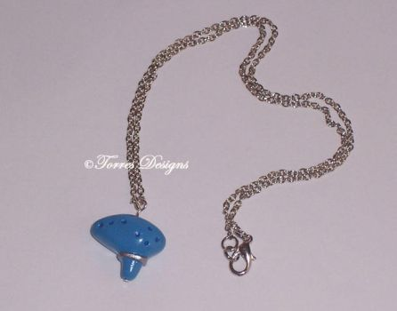 Handmade Ocarina of Time Necklace ZELDA by TorresDesigns