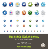 Set of social grunge icons by Tydlinka