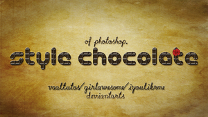 Chocolate Style for photoshop by iyoulikeme