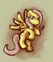 Sketchy Fluttershy by first-blush