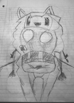 Learning to Draw: Man in Gas Mask Sketch by TheSpud