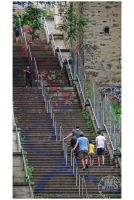 Stair Street and Climbers by steeber