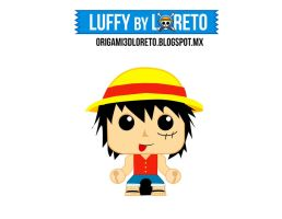Luffy minipapercraft by kiri-chan1990