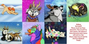 2013 Christmas Trades by NatsumeWolf