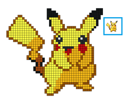 Pixel Pickatchu by serpifeulover