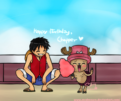 Collab-op-Happy Birthday Chopper by mcdmouse