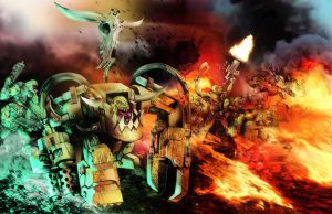 WAAARGH! THE ORKS!!! by skullsgunsandfire