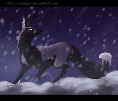 falling snow by DeNovember