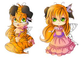 -- Chibi commissions for lazyandi -- by Kurama-chan