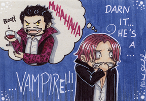 He's a Vampire - Cacaocard by MichaelSilverleaf