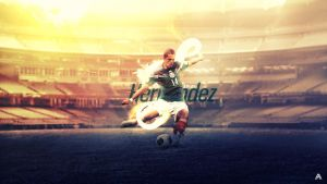 Javier Hernandez (Mexico) Wallpaper by AlbertGFX